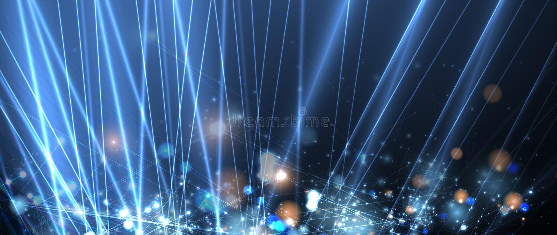 Neural sieci poj?cie Zwi?zane kom?rki z po??czeniami Nowoczesna technologia proces abstrakcyjny t?o ilustracja wektor