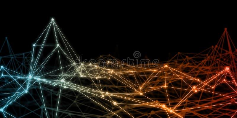 Neurale Netwerkvlecht vector illustratie