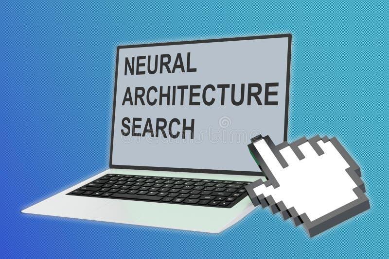 NEURALES ARCHITEKTUR-SUCHkonzept lizenzfreie abbildung