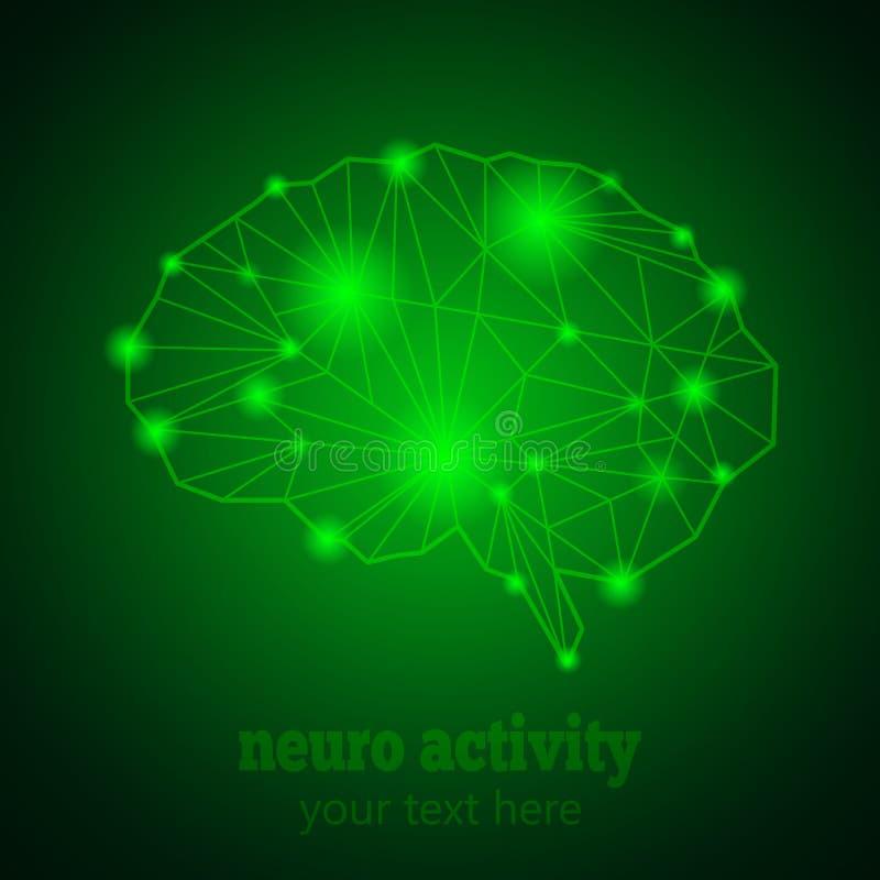 Neuro aktywność 1 royalty ilustracja