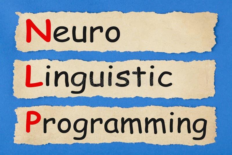 Neuro językoznawczy programowanie zdjęcie stock