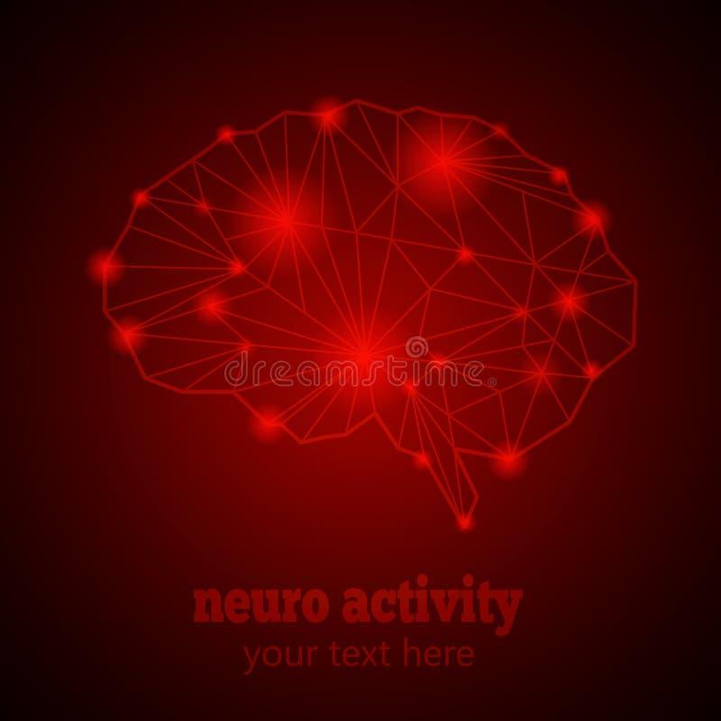 Neuroactiviteit 1 royalty-vrije illustratie