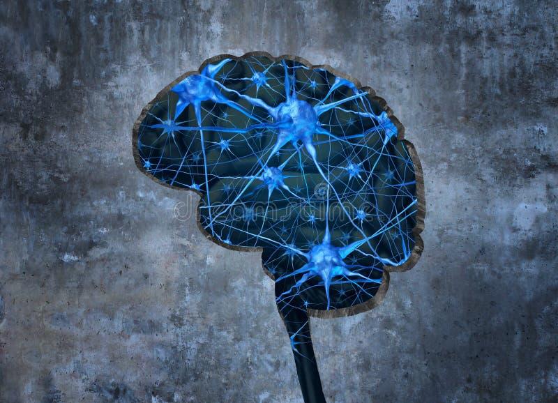 Neurología humana interior ilustración del vector