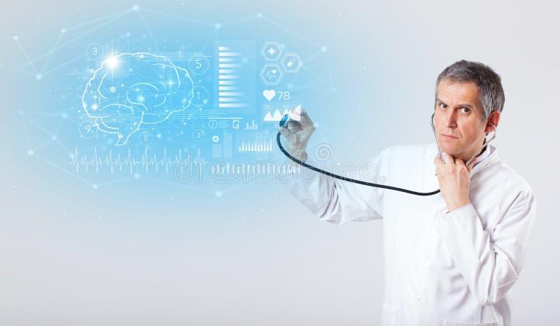 Neurolog pokazuje wynik testu zdjęcie stock