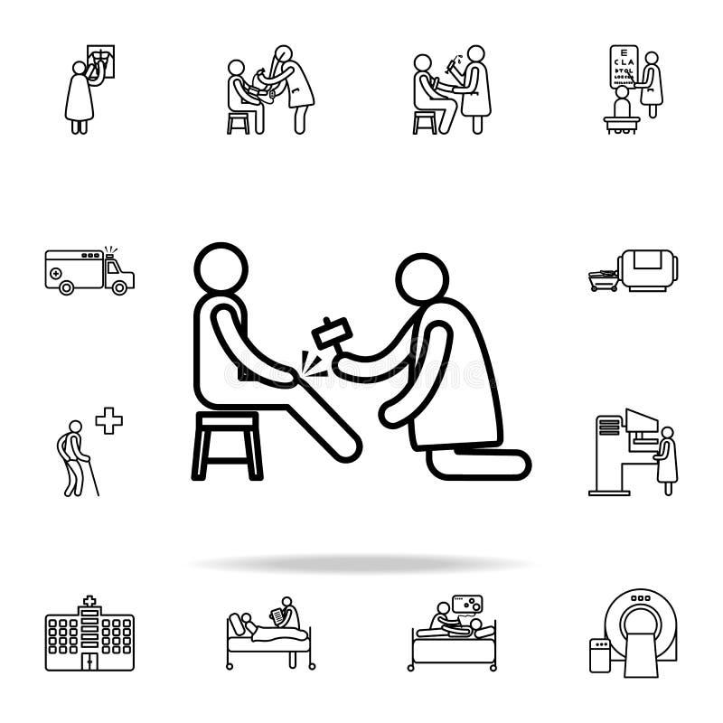 neurologsymbol Universell uppsättning för sjukhussymboler för rengöringsduk och mobil royaltyfri illustrationer