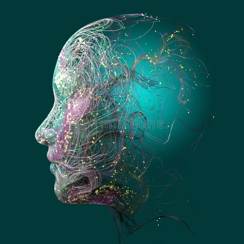 Free Neurology, Philosophy, Medicine Of The Future: Neural Connections, The Development Of Thought And Reflection, Brain And Mind Stock Images - 179398744