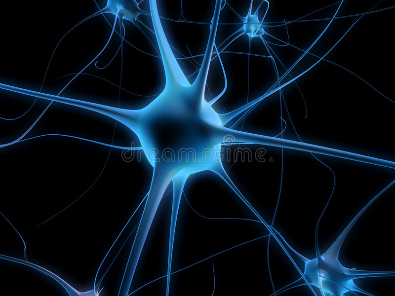 Neuron cell stock illustration