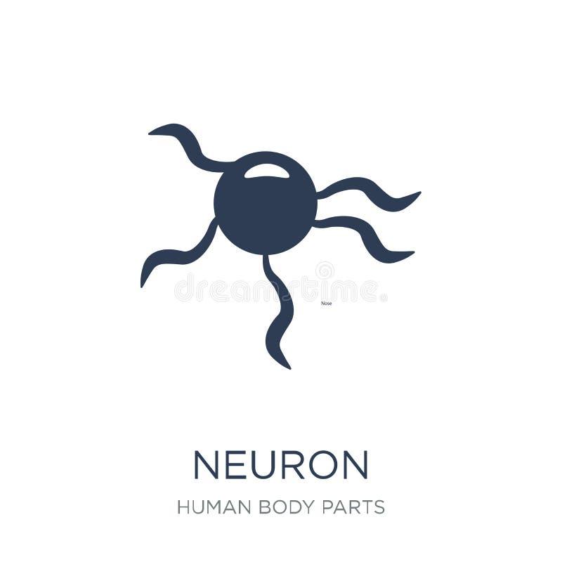 Neuron ikona Modna płaska wektorowa neuron ikona na białym tle ilustracji
