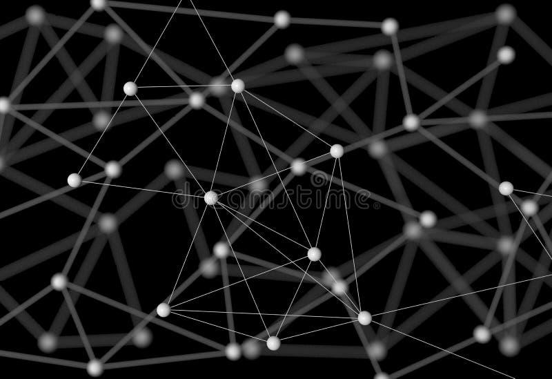 Neuron, neural network, nerve node,. Nervous system, 3D rendering royalty free stock images