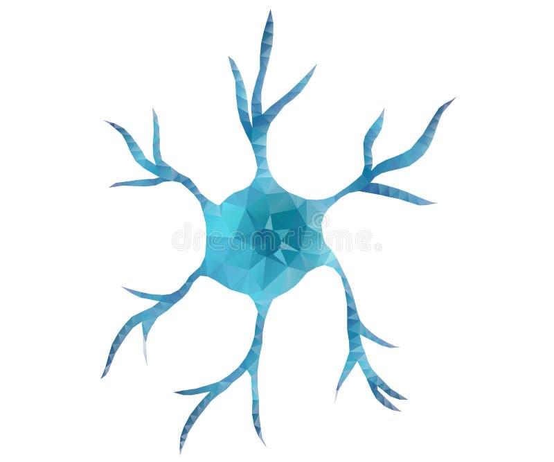 Neuron, star, polygon vector illustration