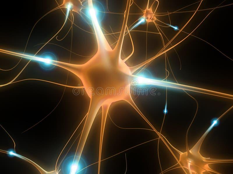 Neurona activa ilustración del vector