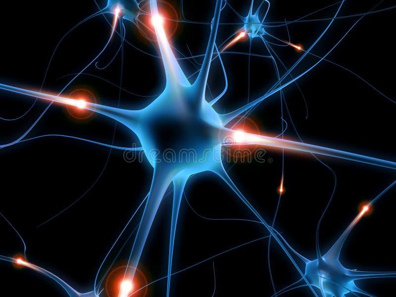 Neurone actif illustration de vecteur