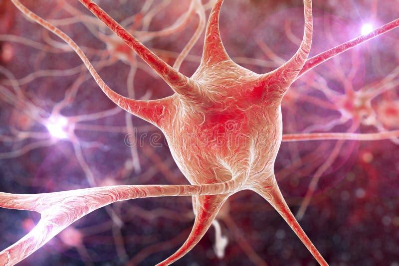 Neurone, cellule du cerveau illustration de vecteur
