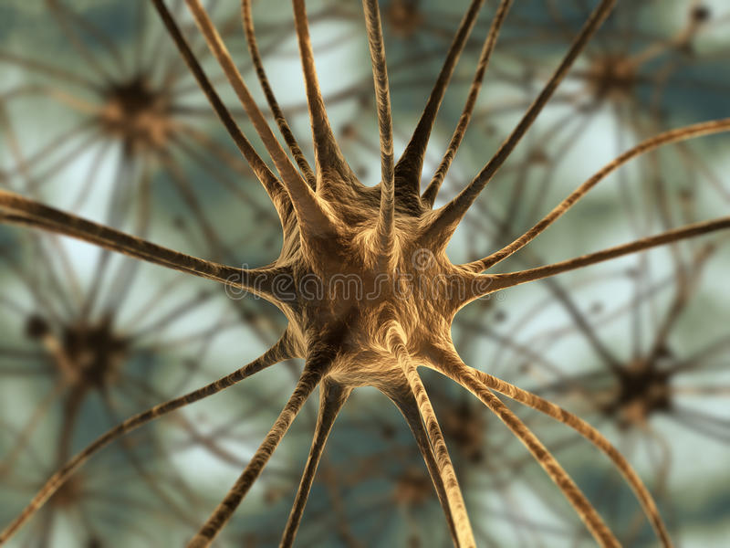 Neuronen stock illustratie
