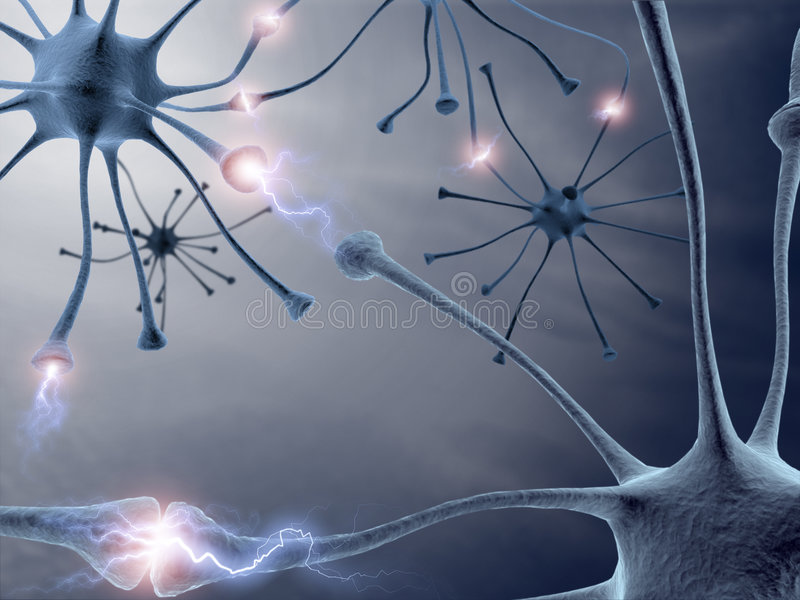 Neuronen stock illustratie
