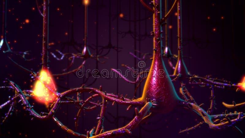 Neuronen stockfotos