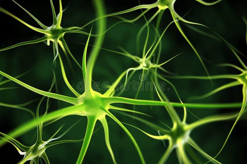 Neuronen abstracte achtergrond royalty-vrije illustratie