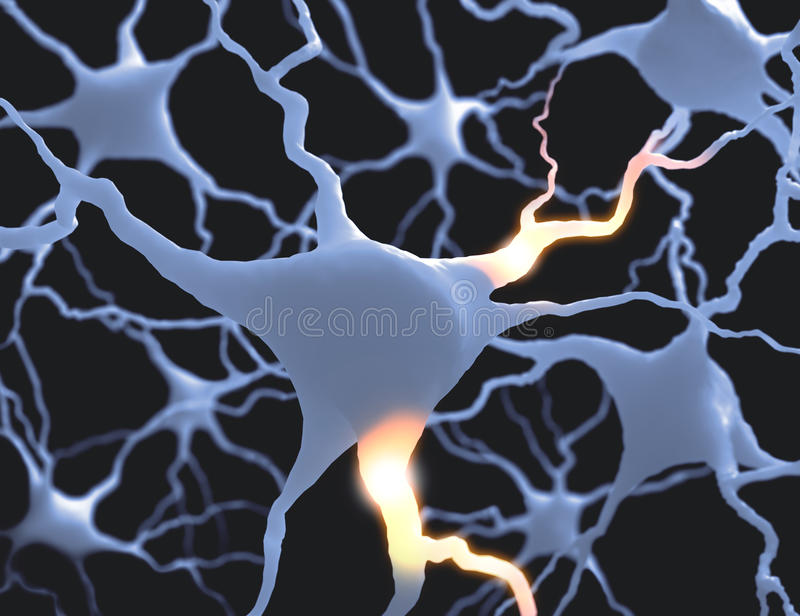 Neurones ilustracja wektor