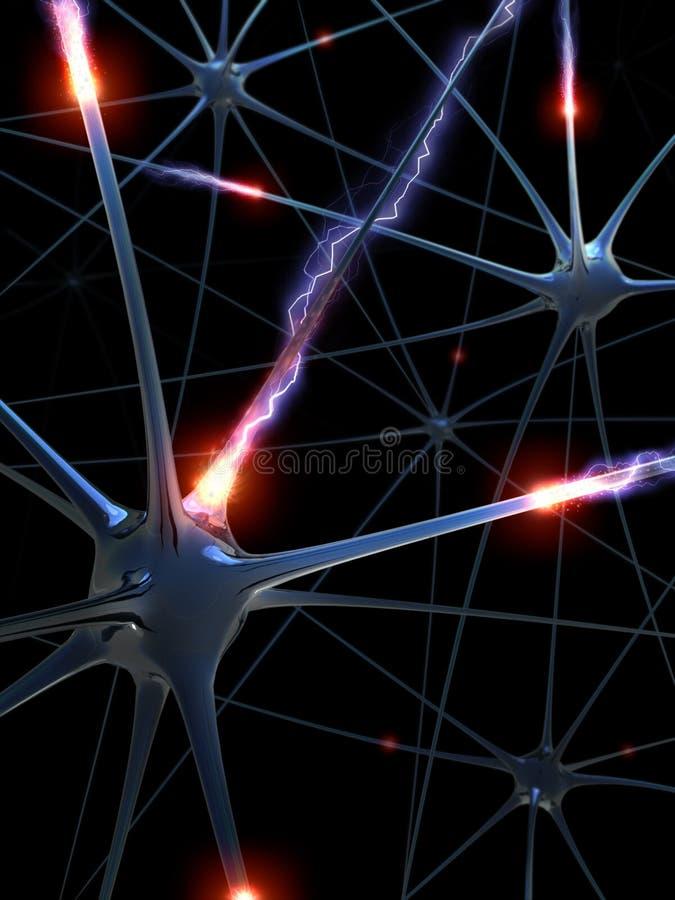 Neurons (The brainstorm) royalty free illustration