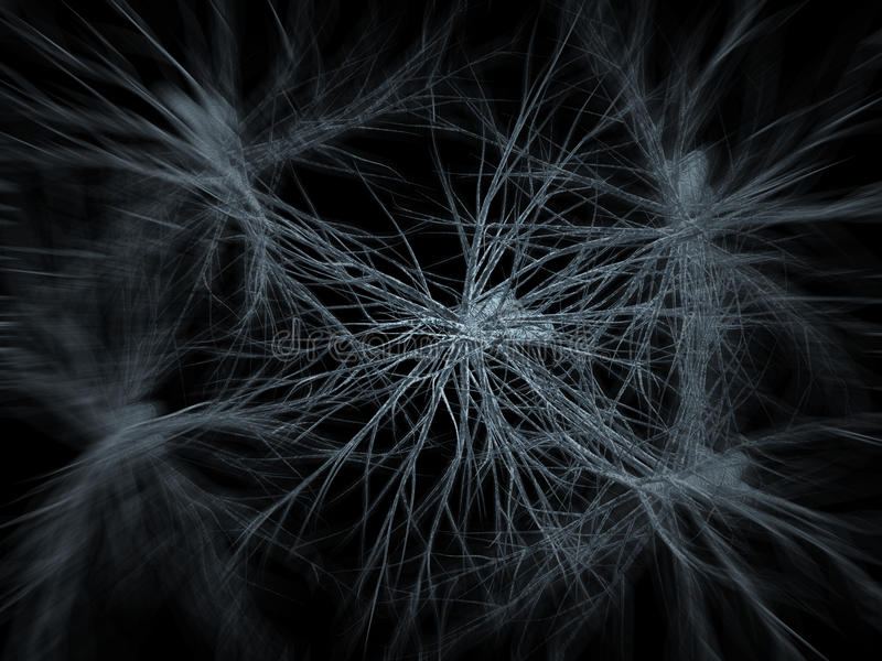 Neurons network zoom in. A microscopic scan of neurons network royalty free illustration