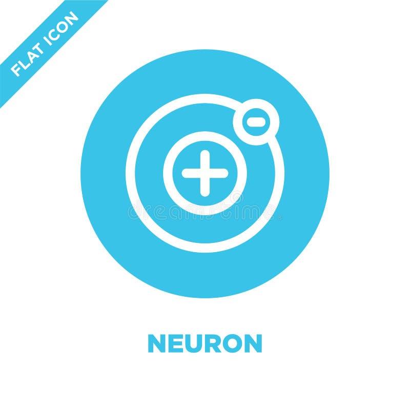 neuronsymbolsvektor Tunn linje illustration för vektor för neuronöversiktssymbol neuronsymbol för bruk på rengöringsduken och mob vektor illustrationer