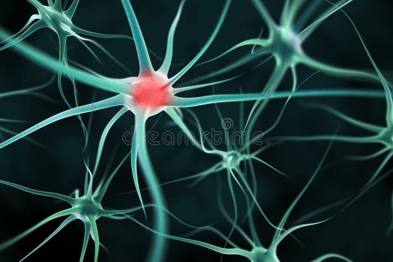 Neuronu abstrakta tło ilustracji