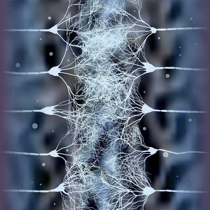 Neuronzellen, die Netz bilden stock abbildung