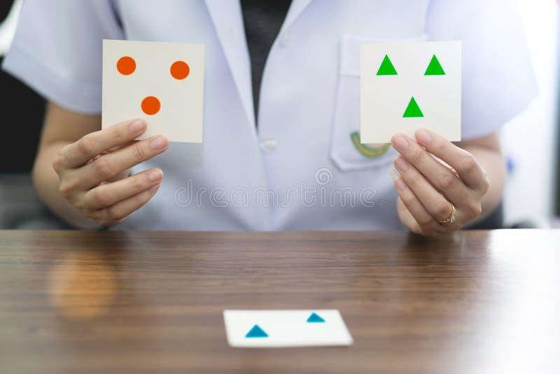 Neuropsychological prov för kognitiv utbildning för rehabilitering kognitiv arkivfoton