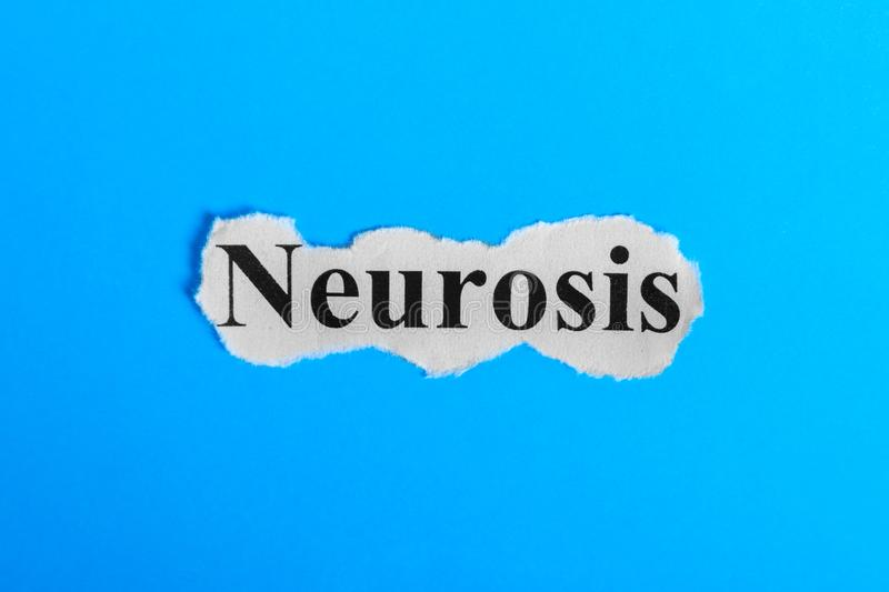 Neurosis text on paper. Word Neurosis on a piece of paper. Concept Image. Neurosis Syndrome.  royalty free stock images