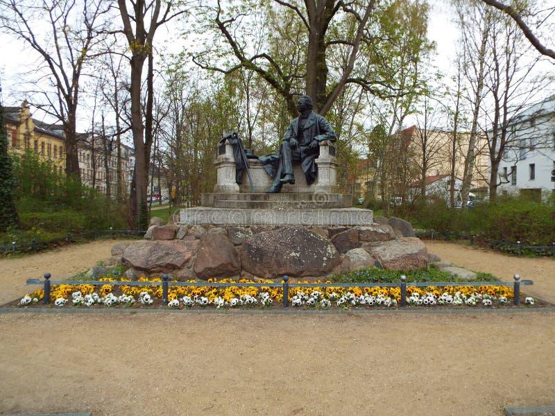 Neuruppin: lugar de nascimento de Theodor Fontane imagem de stock