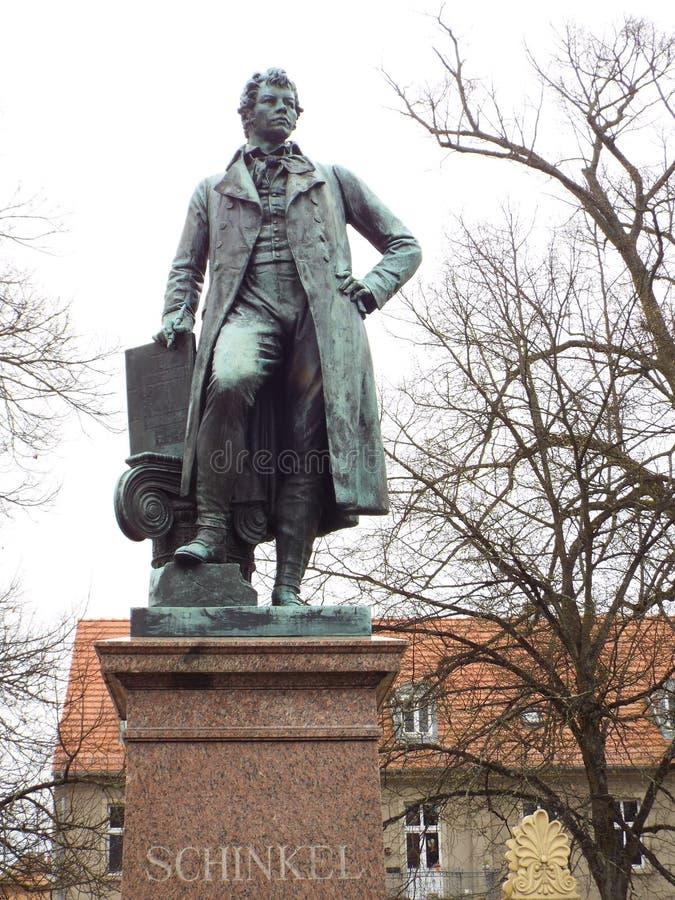 Neuruppin: The Schinkel Monument. The architect Karl Friedrich Schinkel was born in Neuruppin. Germany 13.04.2016 stock photo