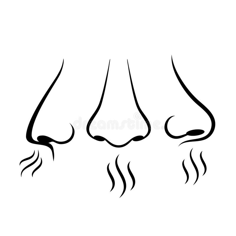 Download Neus Die Vectorpictogram Ademen Vector Illustratie - Illustratie bestaande uit beeldverhaal, pictogram: 107703878