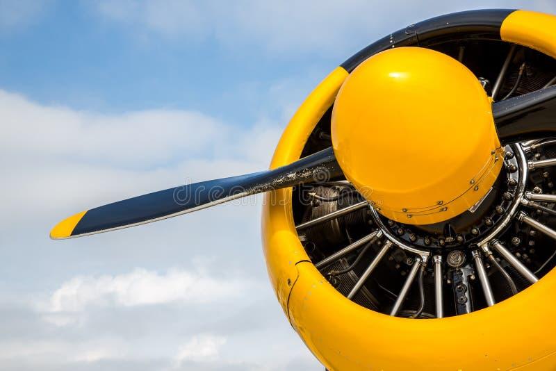 Neus en propeller van t-6 Vliegtuig WarBird stock fotografie