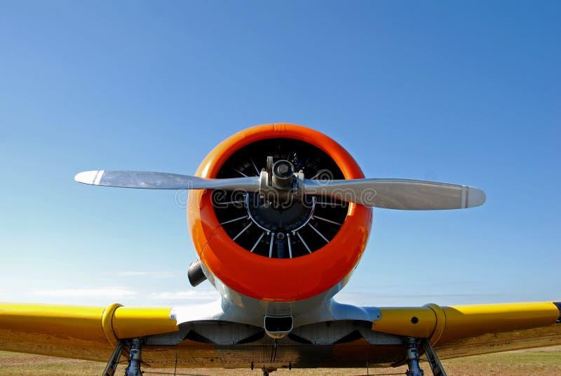 Neus van vliegtuig stock afbeelding