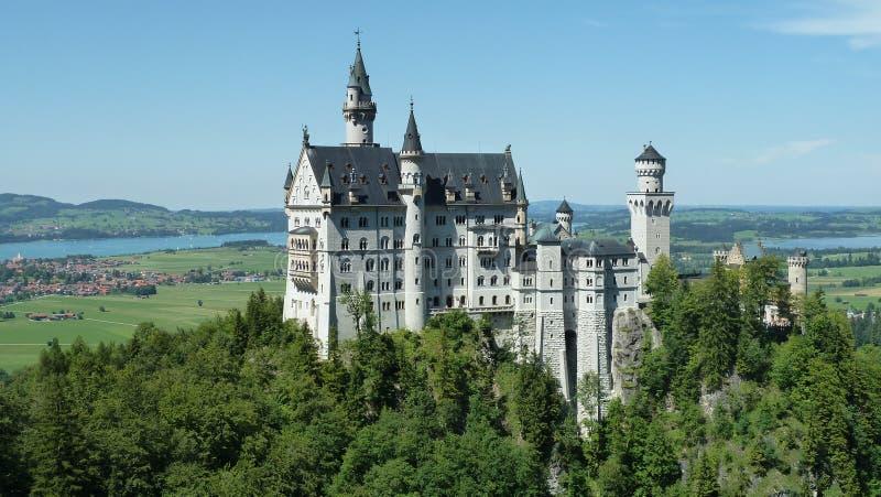 Neuschwandstein城堡 库存照片