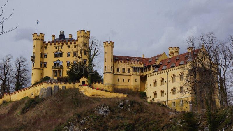 Neuschwangau royal bavarian castle stock photography