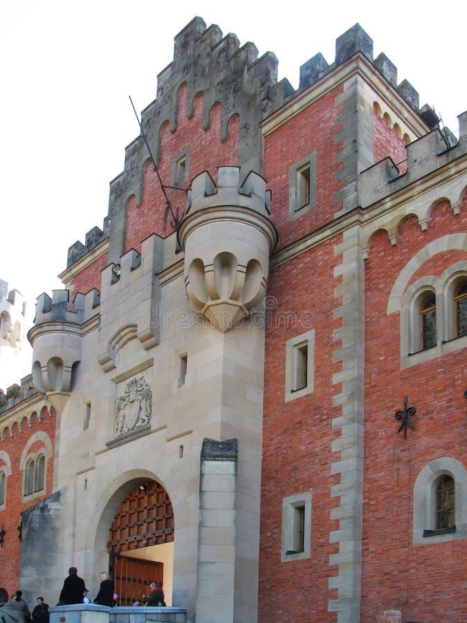 Neuschwanstein är en av de mest berömda slottarna och slottarna i Europa arkivbild