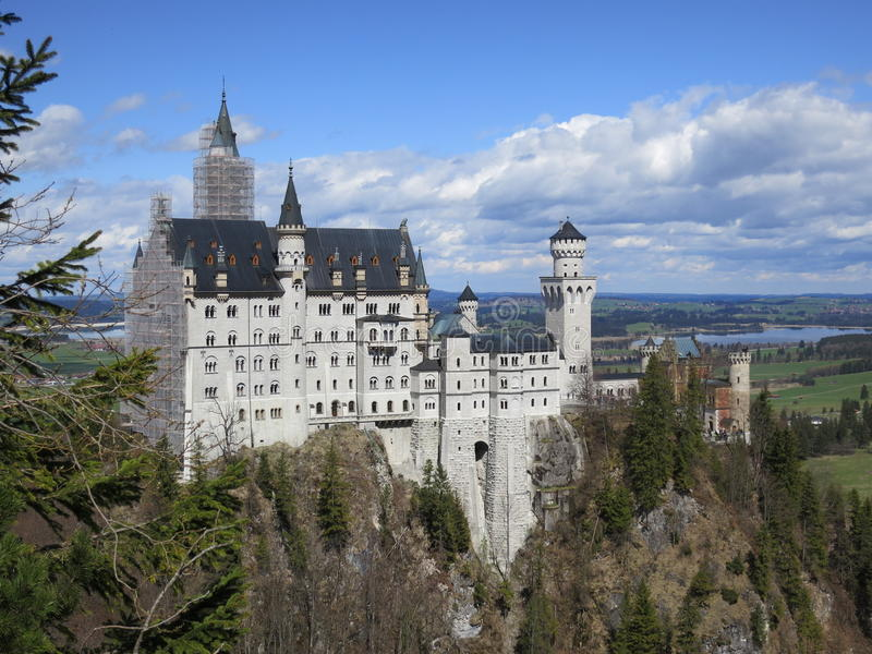 Neuschwanstein Castle stock photo