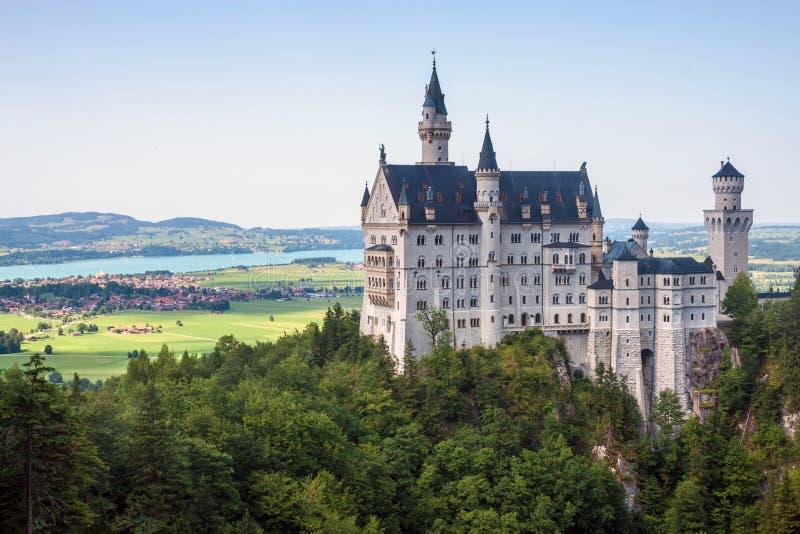 Neuschwanstein castle. In Bavaria, Germany royalty free stock image