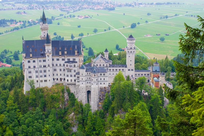 The Neuschwanstein castle in Fussen Germany royalty free stock photography