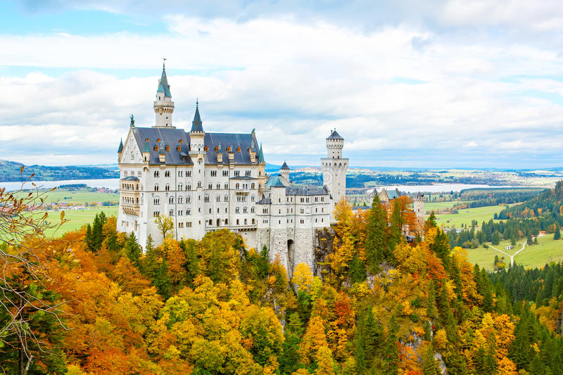 Neuschwanstein Castle, Germany. Famous tourist attraction stock photography