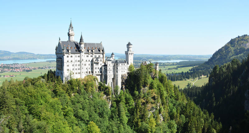 Neuschwanstein Castle, Schwangau, Germany - 31 July 2015 royalty free stock image