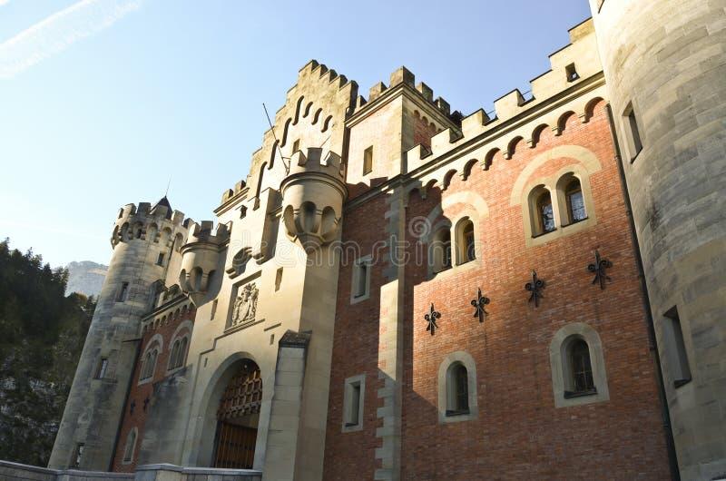 Neuschwanstein kasztelu Gatehouse zdjęcie stock