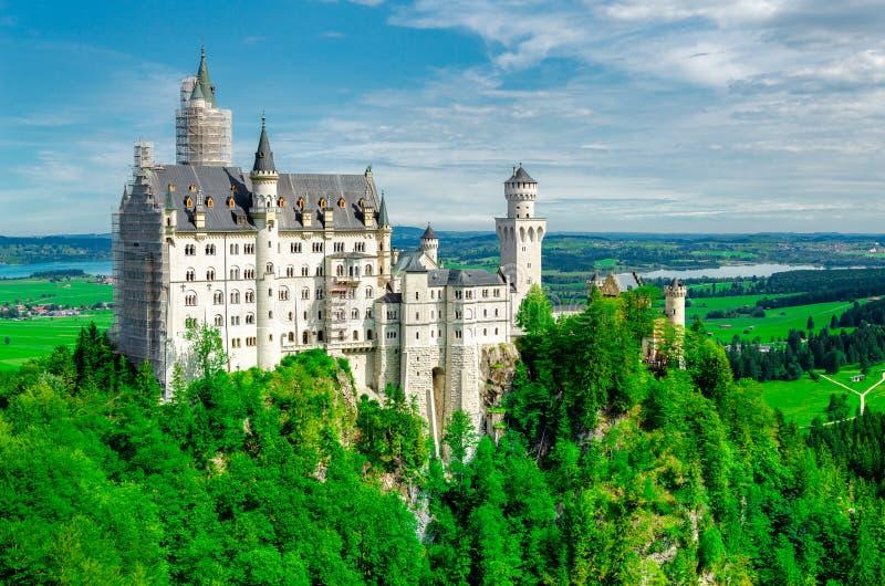 Neuschwanstein-Schloss, Fussen, Bayern, Deutschland stockfotos