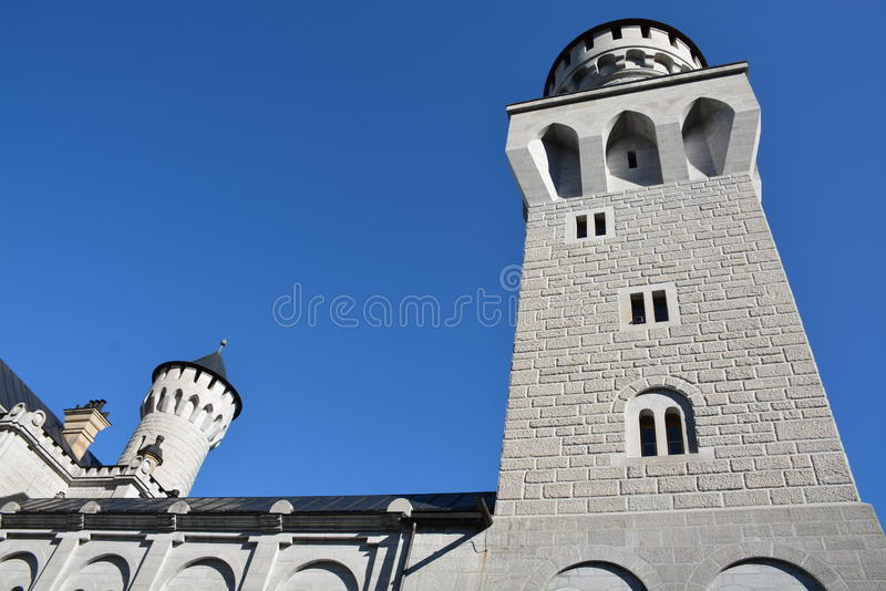 Neuschwanstein slott, Schwangau, Tyskland - 31 Juli 2015 royaltyfri fotografi