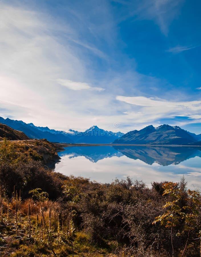 Neuseeland. Berglandschaft lizenzfreie stockfotografie