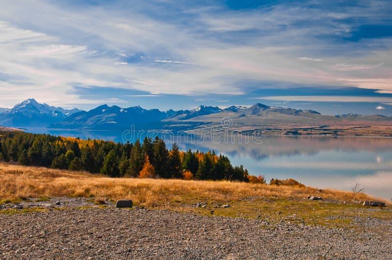 Neuseeland. Berglandschaft stockbild
