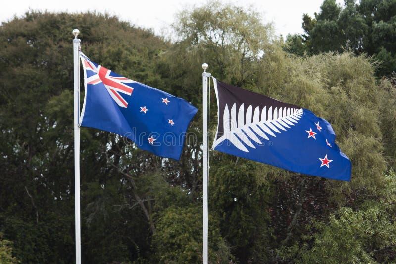 Neuseeland-Flaggen stockbilder