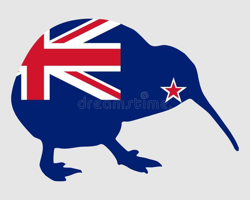 Neuseeland-Kiwi vektor abbildung