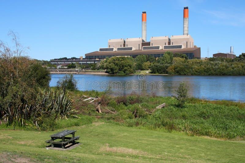 Neuseeland-Kraftwerk stockfotografie
